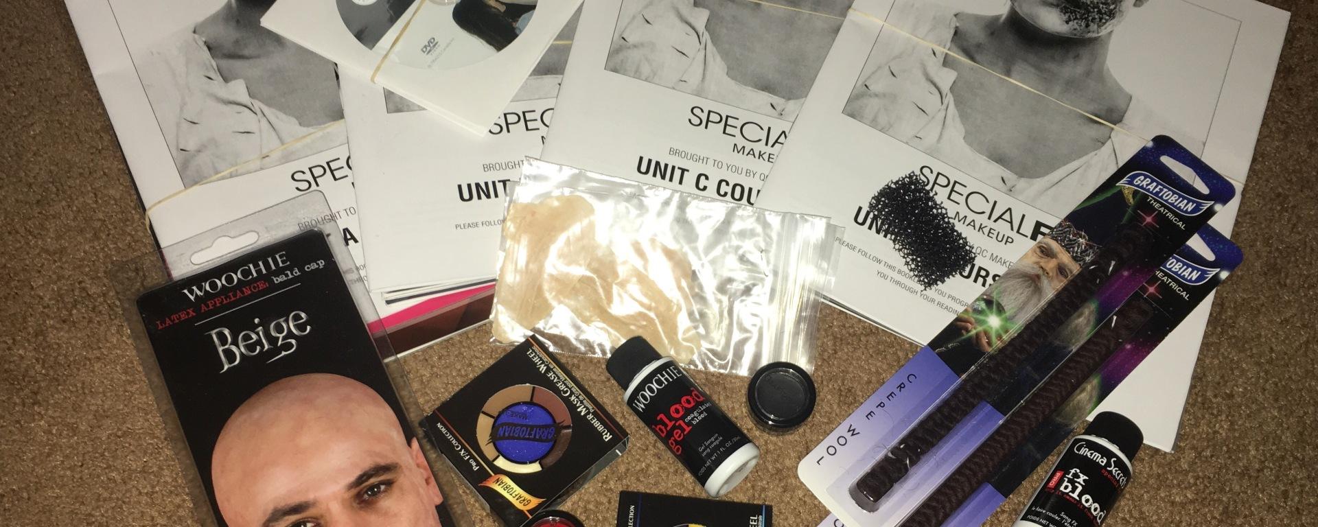 QC Makeup Academy – SFX Course Unboxing – emilyburnsmua blog